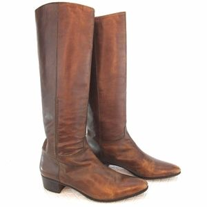 Tanino Crisci Italian Leather Riding Boots Sz 7AA